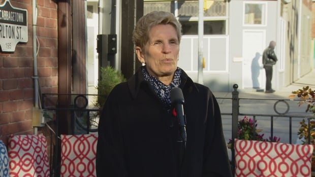 Premier Kathleen Wynne would not rule out back-to-work legislation to end the ongoing college faculty strike when asked about it on Monday.