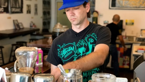 Weird Wave Coffee co-owner Jackson Defa is at the centre of a controversy over gentrification in the Boyle Heights district of Los Angeles.