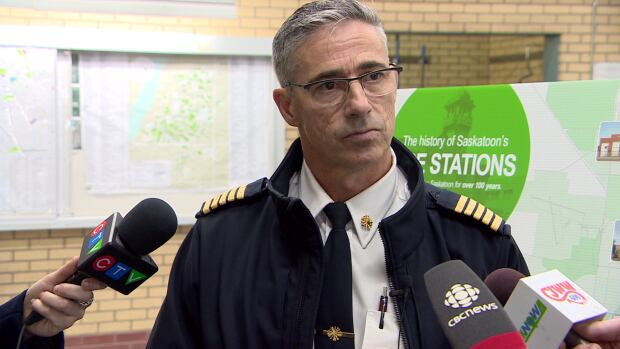 Saskatoon Fire Chief Morgan Hackl says the city will ultimately save money and fire response will be more efficient by building two new fire halls and tearing down two older ones.