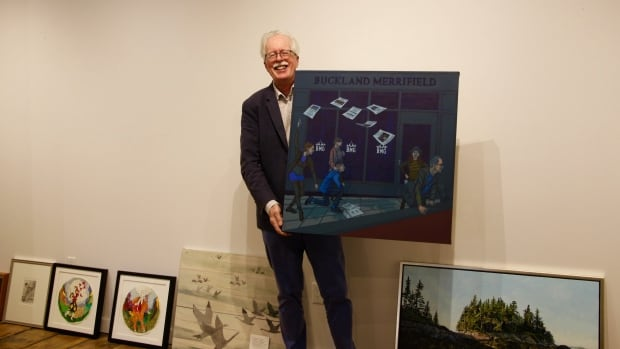 Peter Buckland, Saint John curator, gallery director, and champion of the Saint John arts scene, will retire later this week after curating his final show, Swan Song.
