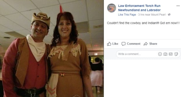 "Offensive ""cowboy and Indian"" costume"