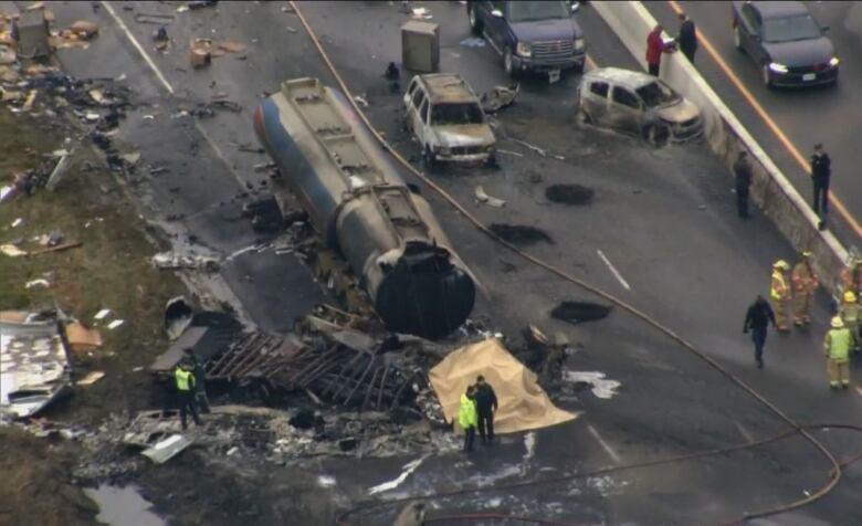 Images capture 'absolute devastation' of fatal Highway 400 pileup
