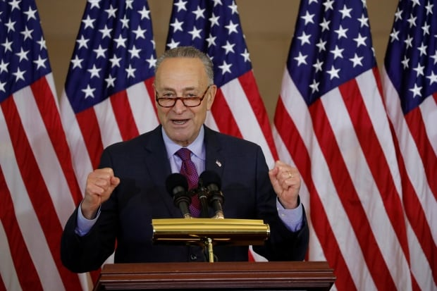 Senate minority leader Chuck Schumer took aim at Trump for 'politicizing' the deadly bike path attack in New York City. (Aaron P. Bernstein/Reuters)