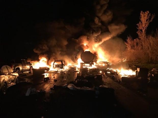 North Bay man among three dead in fiery Highway 400 crash