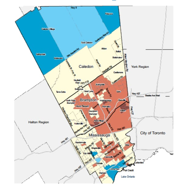 United Way Peel map
