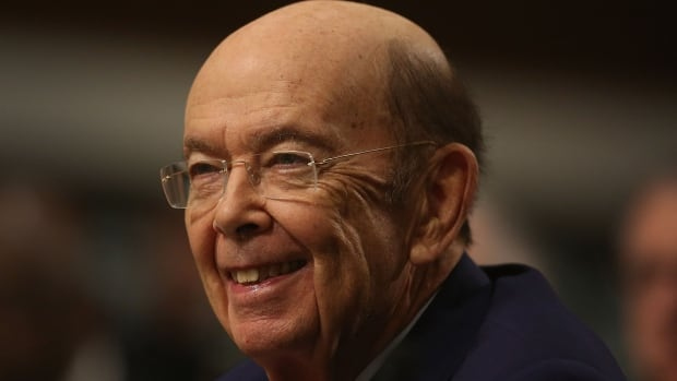 Wilbur Ross testifies at his confirmation hearing before the U.S. Senate commerce committee on Capitol Hill on Jan. 18 in Washington. Leaked files showed a chain of companies and partnerships in the Cayman Islands through which the billionaire private equity investor has retained his financial stake in gas-shipping company Navigator.