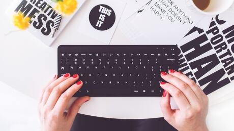 Woman keyboard