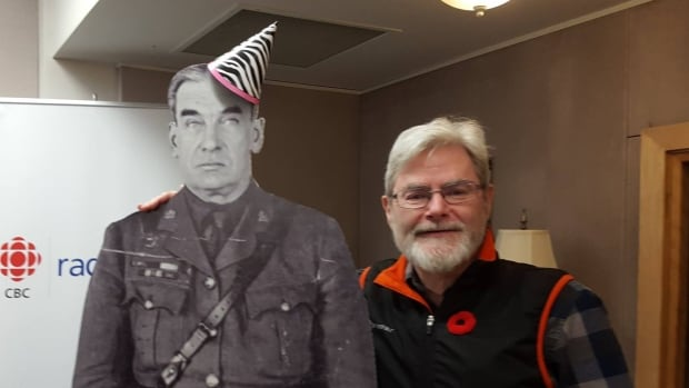 Yukon filmmaker Max Fraser with a cardboard figure of 'Klondike' Joe Boyle. 'It's hard to fathom that there could be a character out of history that accomplished this many things,' Fraser said.
