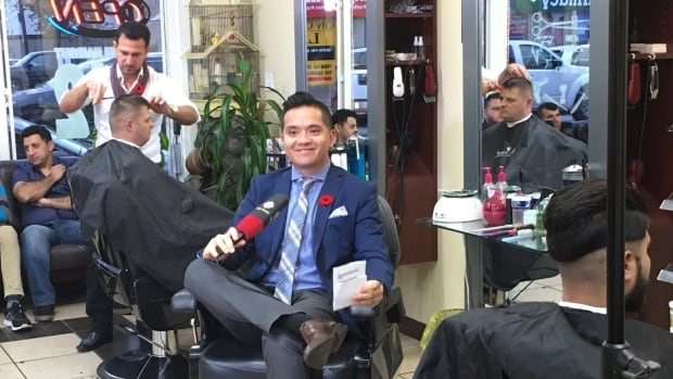 CBC Windsor News' Arms Bumanlag hosted the 6 p.m. news show live from Rabee's Barber Shope on Wyandotte St. E.