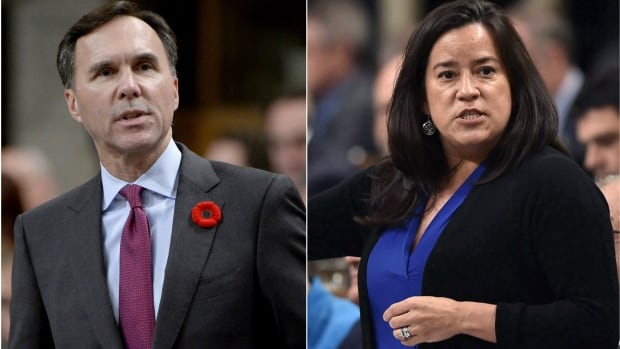 Jody  Wilson-Raybould had previously held company shares outside a blind trust, but Finance Minister Bill Morneau is now the only cabinet minister left who still does.
