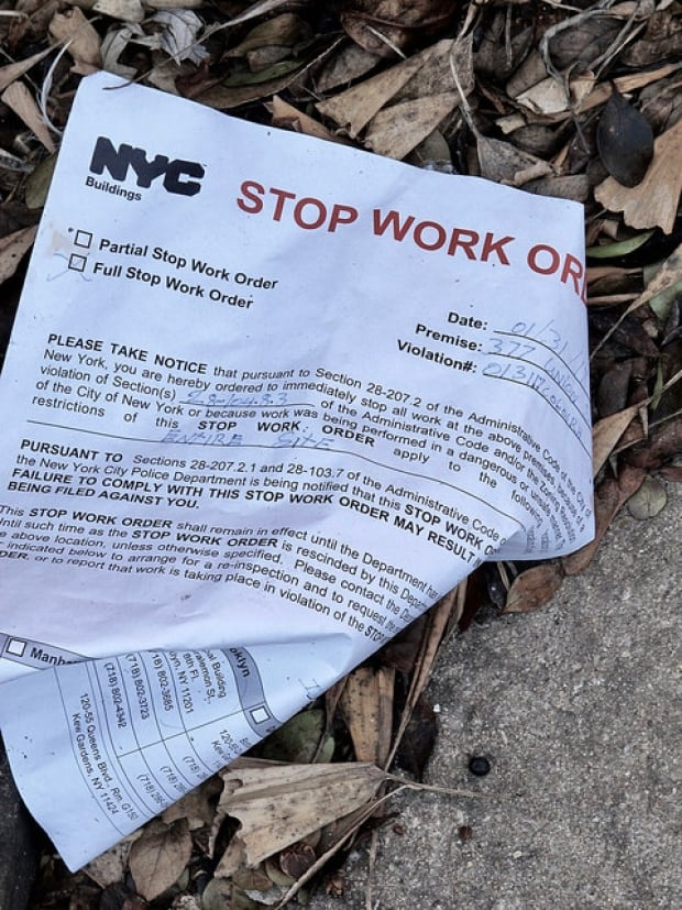 377 Union St - Stop Work order