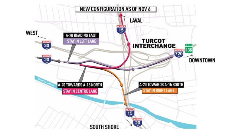Weekend closures and a new look for the Turcot Interchange come