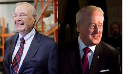 Former prime ministers Paul Martin and Brian Mulroney