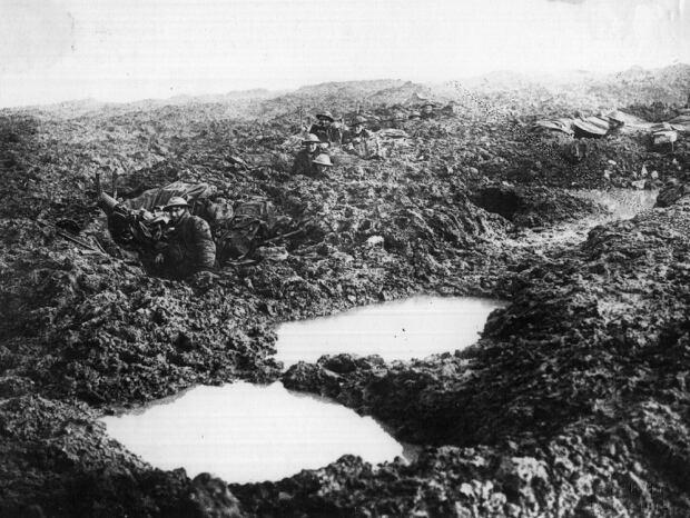 Canadian machine gunners at Passchendaele