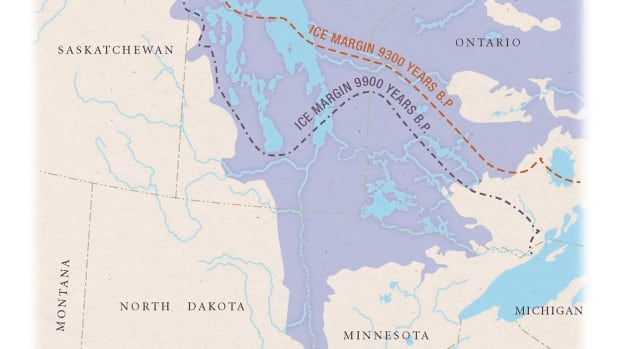 Lake Agassiz spread over most of Manitoba, parts of Saskatchewan and Ontario, North and South Dakota, and Minnesota.