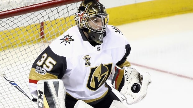 Oscar Dansk has thrived in his first taste of the NHL, winning three times in four games while posting the first shutout in Golden Knights history. He is currently nursing a suspected leg injury.