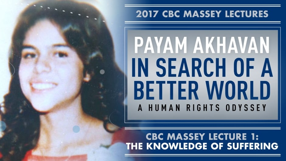 The first of Akhavan's lectures focuses largely on how he fled to Canada and was inspired by the rebellion of Mona Mahmudnizhad, left, a young woman around his age from the Iranian Bahai community in Tehran.
