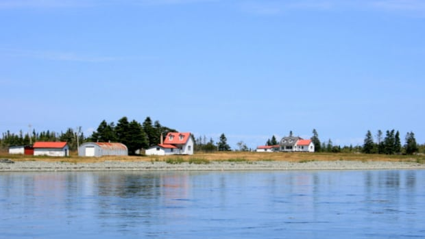 The main house and cabin on Cheney Island,  a 250-acre private island off the coast of Grand Manan currently listed at $850,000. The island made national headlines this week when the list price dropped again from the original $1.2 million price tag.