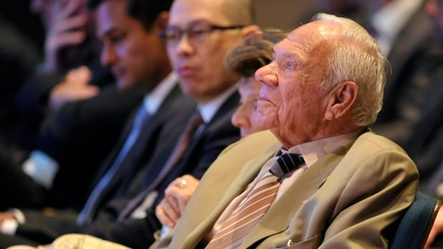 Shoppers Drug Mart Corporation founder Murray Koffler listens during the annual general meeting of shareholders in Toronto in May 2012.  He founded the company in 1962.