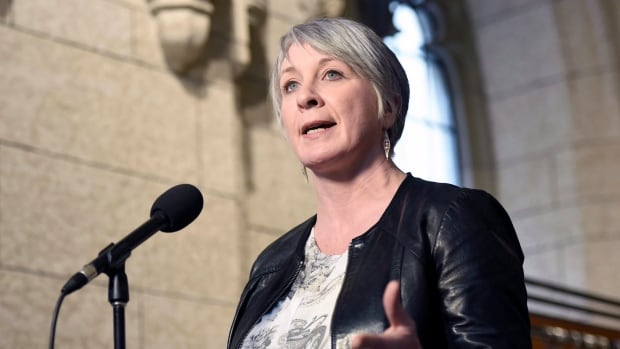 Minister of Employment, Workforce Development and Labour Patty Hajdu speaks to reporters during a weekend meeting of the national caucus on Parliament Hill in Ottawa on Saturday, March 25, 2017.
