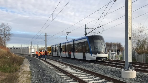 The first real-world testing of the Waterloo Region ION light rail has begun, Nov. 7, 2017.