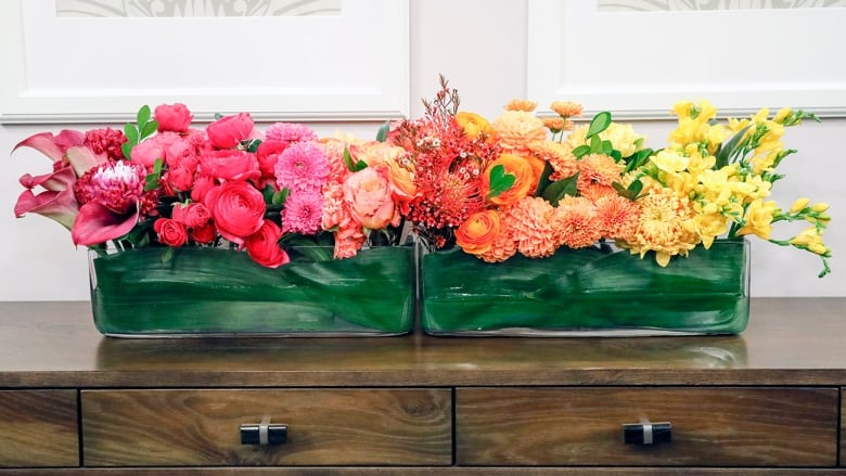 This Diy Ombre Floral Arrangement Is Bright Cheerful And
