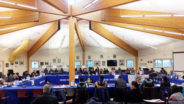The Dene Leadership Conference in Dettah on Oct. 26, 2017. Indigenous governments in the Northwest Territories have a new source of territorial fuding available for Indigenous language revitalization projects.