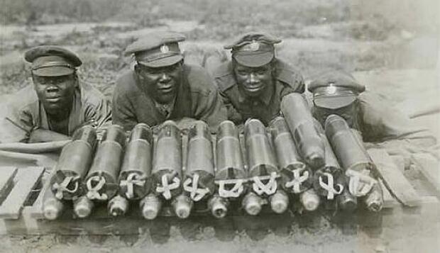 Black soldiers Worls War I