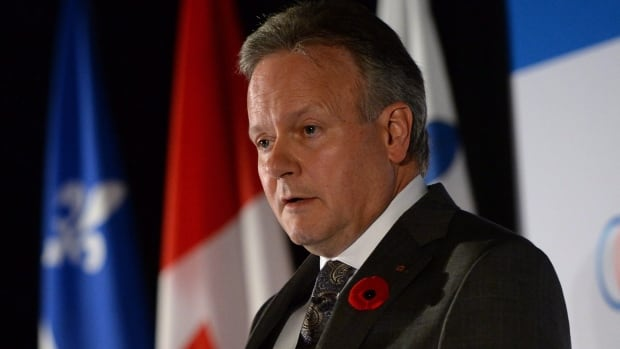 Bank of Canada governor Stephen Poloz speaks at a conference co-hosted by CFA Montreal and the Montreal Council on Foreign Relations in Montreal on Tuesday.