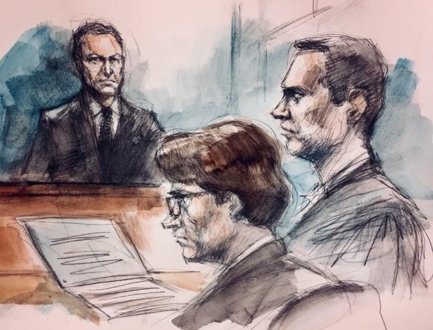 Falconer sketch Babcock trial