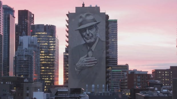 The mural was inaugurated in time for the one-year anniversary of Cohen's death.