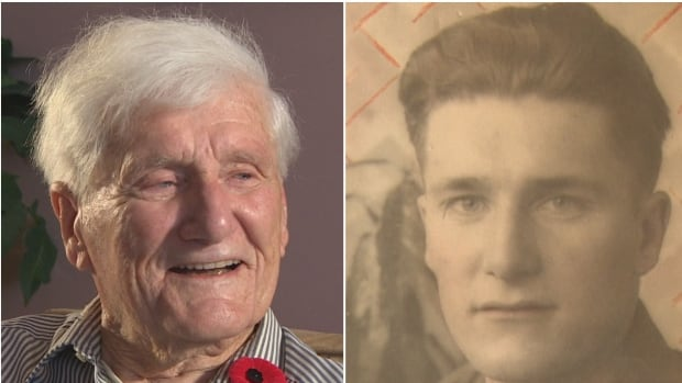 Wesley Oake, now 95, served with the 166th field artillery regiment for the last three years of the Second World War.