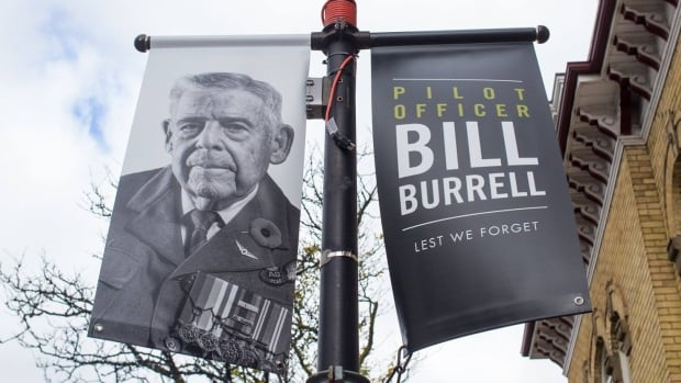 Pilot officer Bill Burrell is one of 35 veterans recognized by the city of Brampton.