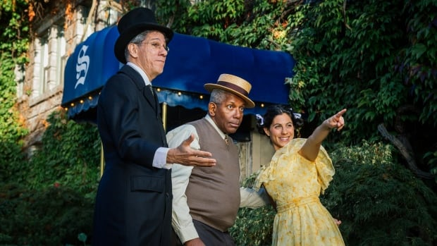 Adam Abrams as Abraham Goldstein, Tom Pickett as Joe Fortes, and Advah Soudack as Sylvia in Two Views from the Sylvia.
