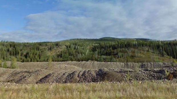 Placer mine tailings near Dawson City. The government wants to use the waste rock as a substitute for quarried gravel in construction projects.