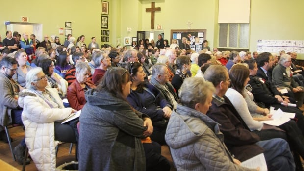 The hall at Trinity Anglican Church in Cambridge filled up Wednesday afternoon with people who heard about the scope of drug use in the city from experts and two women recovering from their addictions.
