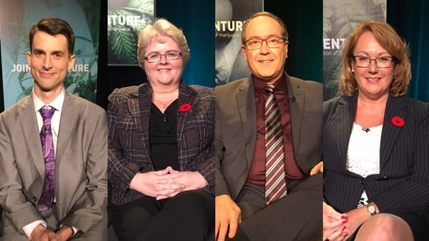 Joint Venture panellists, from left to right: Chris Enns, Myrna Gillis, Todd Leader and Nadine Wentzell.