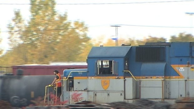 The incident happened at the CP railyard in Côte Saint-Luc, shown in this file picture, at 6:00 a.m. Wednesday.