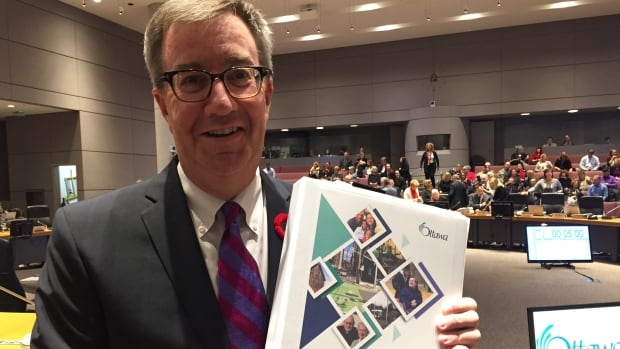Ottawa Mayor Jim Watson pledged during his budget speech Wednesday to make infrastructure spending a priority.