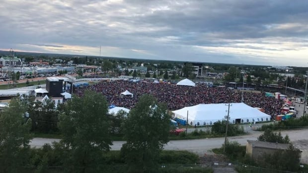 Large crowds gathered in 2017 for the Timmins Stars and Thunder Festival.