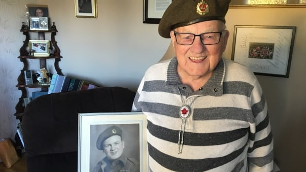 Second World War veteran Kenneth Briggs will be this year's receiving officer at Harbour Station's Remembrance Day service. He will lay the first wreath and take the salutes of the parade.