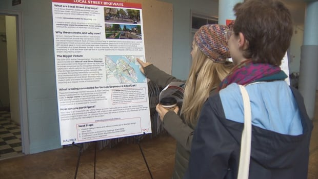 Residents attend one of the municipality's open houses on Wednesday.