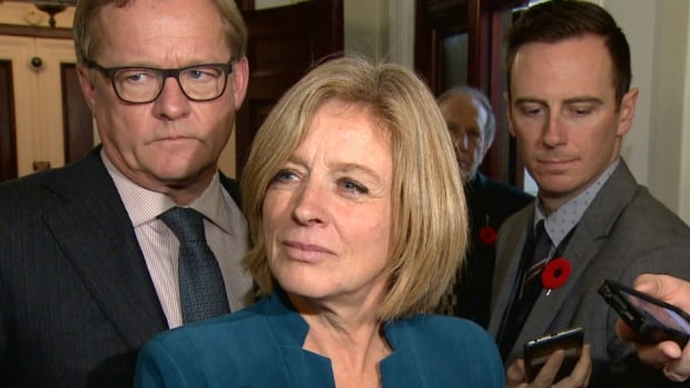 Premier Rachel Notley said another MLA was 'mansplaining' with a question he asked during question period on Tuesday.