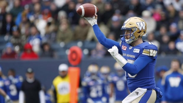 Blue Bombers head coach Mike O'Shea says he thinks injured starting quarterback Matt Nichols will be healthy enough to play in Sunday's CFL West Division semifinal against Edmonton.