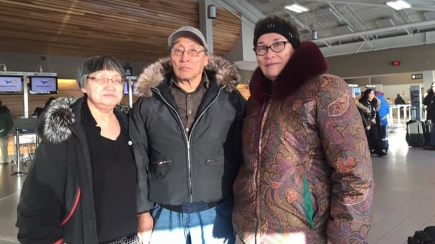 Evano Aggark Sr., centre, says his medical records were mishandled and he's not satisfied with the explanation why.