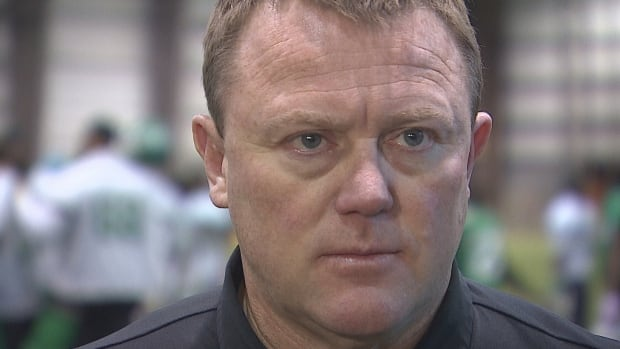 Riders' head coach Chris Jones already has his playoff game face on as his team prepares for the eastern semi-final.