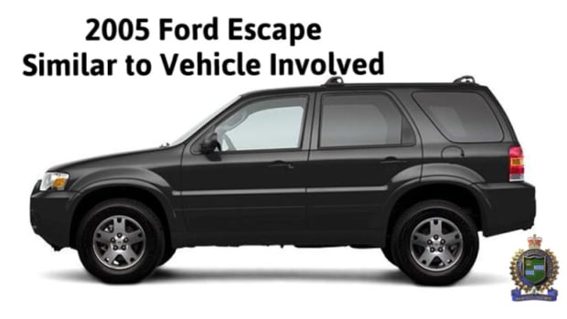 Niagara police are looking for a 2005 Ford Escape, similar to the one shown in this photo, in relation to their investigation into the death of Hamilton man Johnathan Bailey.