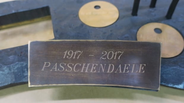 Blacksmith artists from Kitchener were commissioned by Veterans Affairs Canada to create an interactive sculpture to commemorate the Battle of Passchendaele. The sculpture was taken to Belgium, where it will remain in a museum.