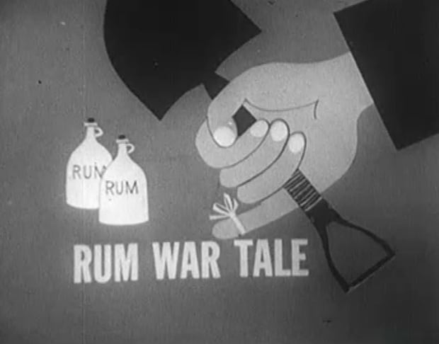 Dudley Seymour rum tale image from Front Page Challenge