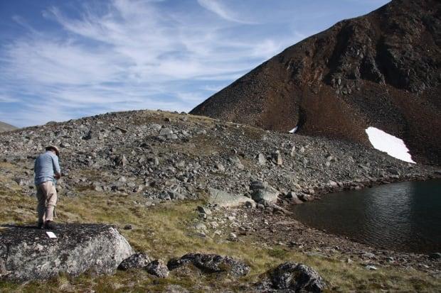 Moraine boulders